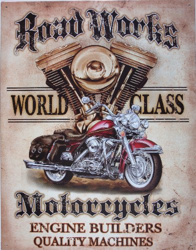 Legends - Road Works Metal Tin Sign