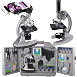 Gosky Microscope Kit for Kids and Beginners with Metal Arm and Base, Magnifications from 300x to 1200x, Includes 70pcs+ Accessory Set, Handy Storage Case and Microscopes Smartphone Adapter (Color: Mc0006)