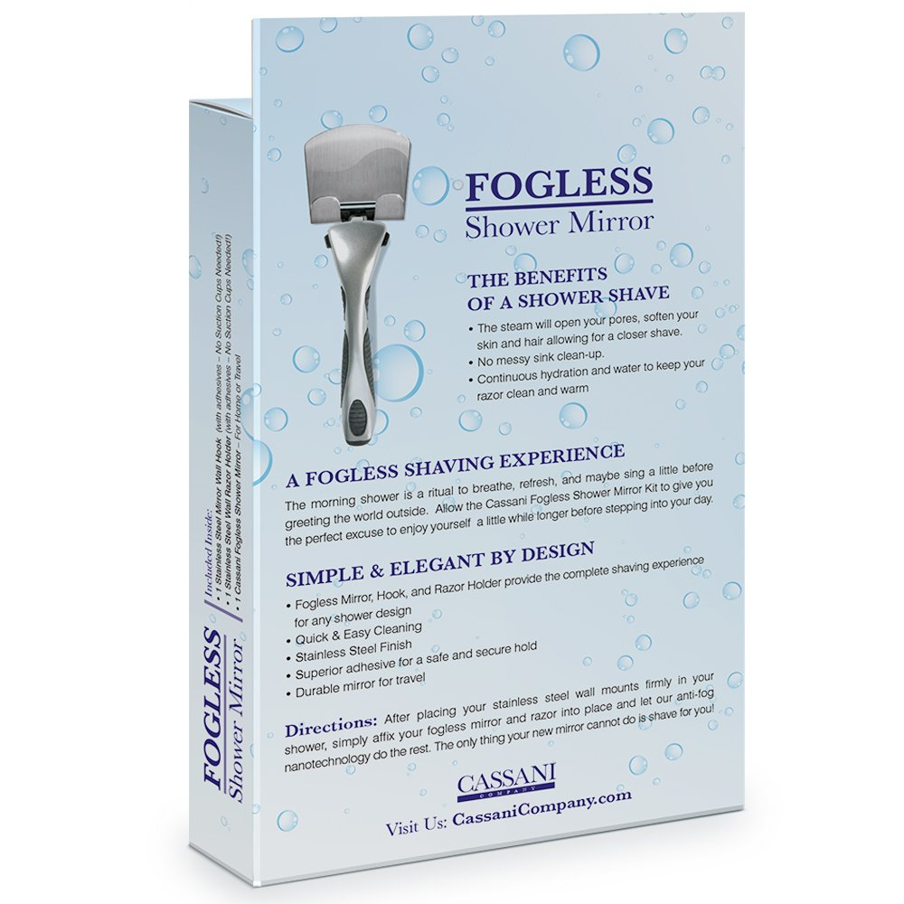 buy fogless shower mirror highest rated includes razor hook modern antifog exclusive to amazon online at low prices in india