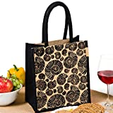 #8: H&B Lunch bag (nautilus shell,black, Size: 11x9x6 inches )