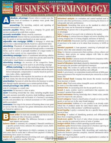 Business Terminology (Quickstudy: Business)