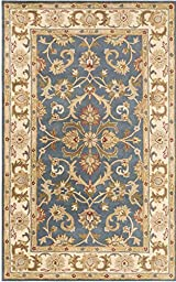 Blue Rug Traditional Design 3-Foot x 5-Foot Hand-Made Traditional Wool Carpet