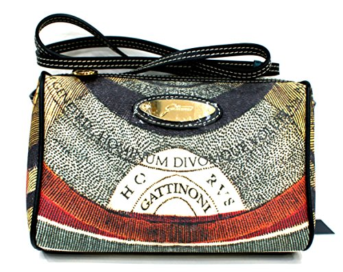 Gattinoni Borsa Donna Tracolla CrossBody Bag Zip Cm 23x15x7 Multicolor
