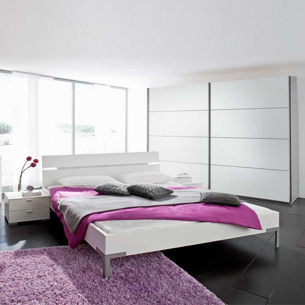 Schlafzimmer-Set Davinitis in Weiß (4-teilig) Pharao24 günstig