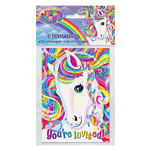 Rainbow Majesty by Lisa Frank ... ... ... .... ... ... ... ... Invitations, 8ct