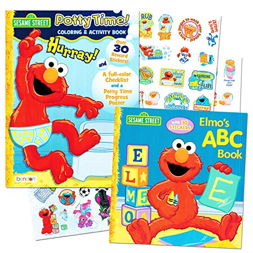 Sesame Street Elmo Potty Training Book Set For Toddlers -- Includes Progress Chart, Poster, Reward Stickers and Bonus Elmo ABC Book (Elmo Potty Reward Chart compare prices)