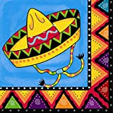 Unique Party Mexican Party Paper Napkins (Pack of 20)