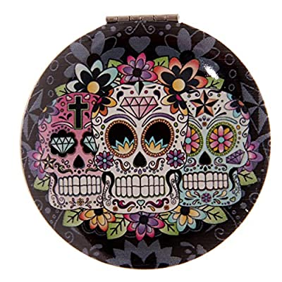Designer Sugar Skull Compact Mirror Makes A Great Gift Or Stocking Filler
