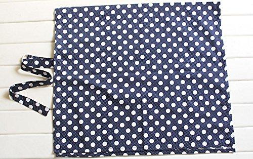 Xidaje Mum Under Cover Baby Infant Blue Breastfeeding Nursing Blanket Cloth Cherry Dot front-806586