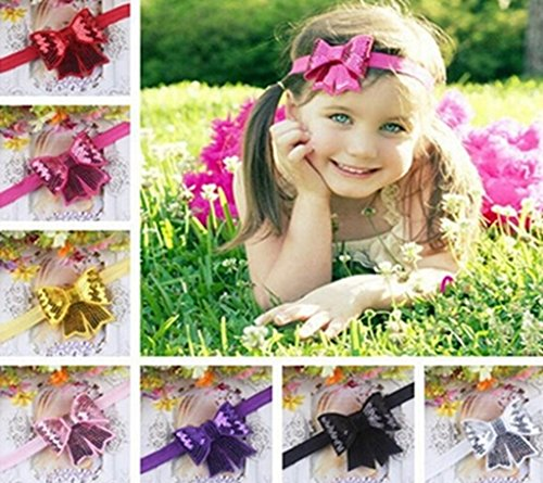 HEBE big fish tail bling bowknot infant kids headband hair hoop 1 pcs(TSH50)