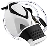 Fox 40 Classic Epik CMG Whistle with Lanyard Referee-coach, Safety Alert, Survival (White) (Color: White)