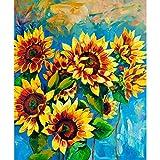 ArtzFolio Sunflowers - Large Size 24.0 Inch X 29.1 Inch - FRAMED PREMIUM CANVAS Wall Artwork Digital PRINT Like...