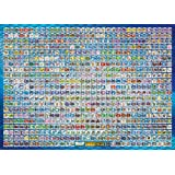 Pokemon Best Wishes 1000pieces All Characters Nationwide Picture Book Jigsaw Puzzle (japan import)