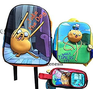 Adventure Time 3D Backpack Jake & Fin,