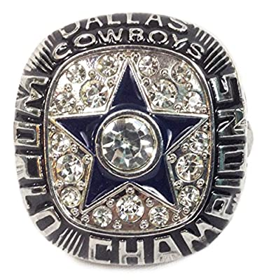 Dallas Cowboys 1971 Super Bowl Ring - Roger Staubach - Exquisite Replica - Shipped from USA