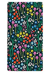 Omnam Small Painted Flower Pattern Printed Designer Back Cover Case For Vivo Y51 L