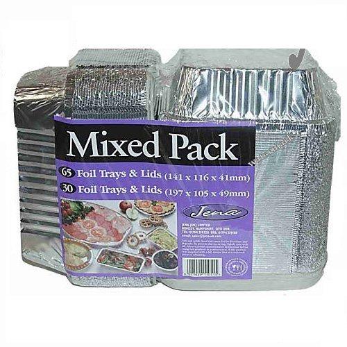 Vassoio per pasti, in alluminio usa e getta (95 unità)