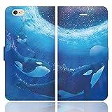 [iPhone6S 6 兼用 手帳型 ケース カバー] Night Aquarium