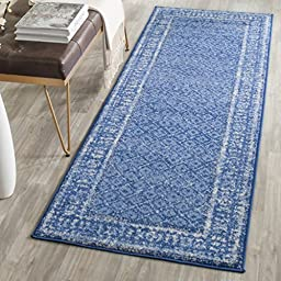 Safavieh Adirondack Collection ADR110F Light Blue and Dark Blue Runner, 2 feet 6 inches by 8 feet (2\'6\