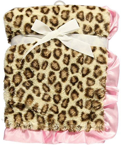 Hudson Baby Fur Blanket with Satin Ruffle - 1