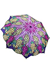""" Tiffany Vineyard "" Galleria Compact Folding Umbrella"
