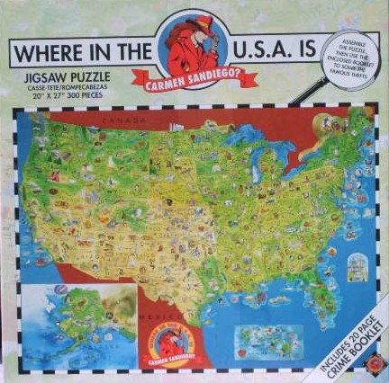 Picture of Great American Where in the USA is Carmen San Diego? 300 Piece Puzzle (B0042R28K2) (Jigsaw Puzzles)