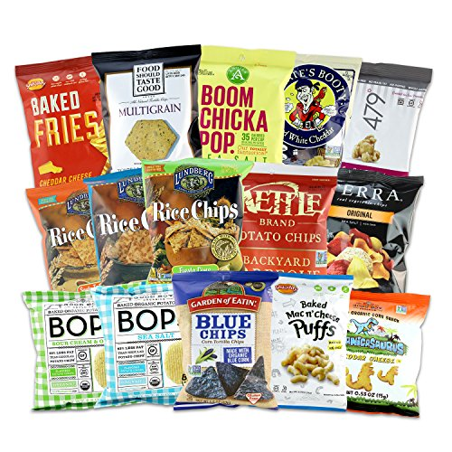 Gluten Free Snacks Organic Gift Bundle (All Natural, Non-GMO, GMO Free, No Artificial Colors or Flavors) Kids, Healthy, Treats 15ct image