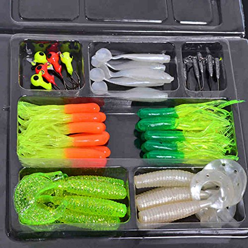 35pcs Plastic Worm Soft Fishing Lure Set + 10 Lead Jig Hooks Simulation Suite Fishing Baits Pesca Tackle (Electric Fillet Knife Saltwater compare prices)