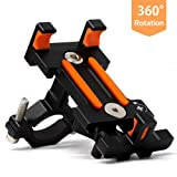 Sporcis Bike Phone Mount, Bicycle Motorcycle Handlebars Mobile Phone Holder with 360 ° Rotation Adjustable, Fits iPhone X, 8 | 8 Plus, 7 | 7 Plus, iPhone 6s | 6s Plus, Galaxy S7/ S6/ S5 (Color: Black)