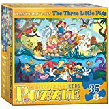 Eurographics the Three Little Pigs 6 x 6-inch Box MO Puzzle (35 Pieces)