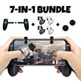 PUBG Mobile Game Controller Bundle for iPhone iOS 6, 6 Plus, 6S, SE, 7, 7 Plus, 8, 8 Plus, iPhone X, and Android Phones with Mobile Gamepad, Mobile Claw Triggers, and Mobile Joysticks