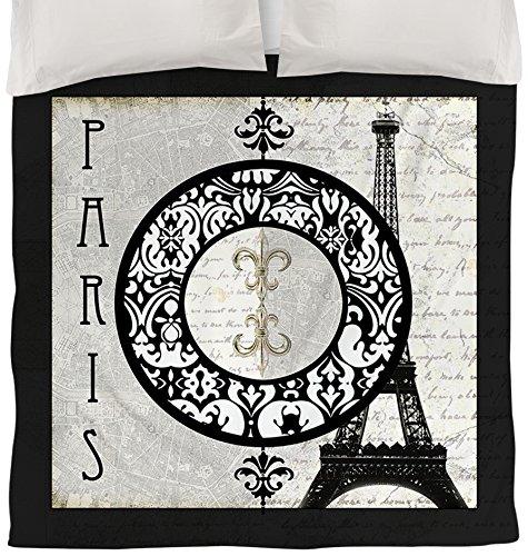 Thumbprintz Duvet Cover, Queen/Full, Paris Circle Eiffel Tower front-411041