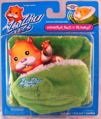 Zhu Zhu Pets Hamster Blanket and Bed - Green - 1