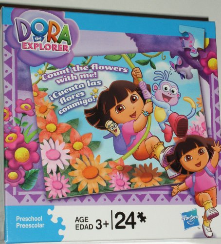 Cheap Hasbro Dora the Explorer Count the Flowers with Me, 24 Piece Puzzle, Ages 3+ (B003ZQ64YW)