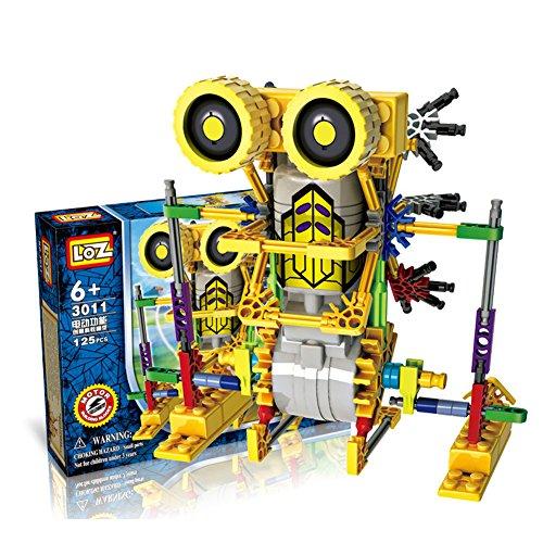 LOZ-Motorial-Alien-Robot-Robotic-Building-Set-Block-Toy-Battery-Motor-Operated3D-Puzzle-Design-Alien-Primate-RobotArmor-Kangaroo-Figure-for-kids-and-adults-122-parts