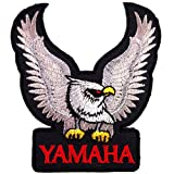 YAMAHA EAGLE RACING MOTORCYCLE SCOOTERS BIKER JACKET EMBROIDERED IRON ON PATCHES With FREE GIFT