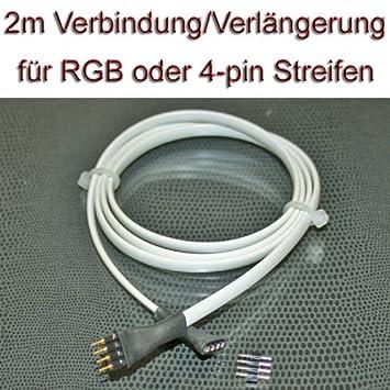 2 meter verbindung verl ngerung kabel f r rgb led us130. Black Bedroom Furniture Sets. Home Design Ideas