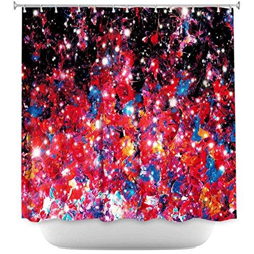 Shower Curtain Artistic Designer from DiaNoche Designs Stylish, Decorative, Unique, Cool, Fun, Funky Bathroom - Starlight Nebula