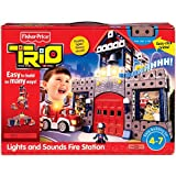 Fisher-Price TRIO Lights and Sounds Fire Station Building Set