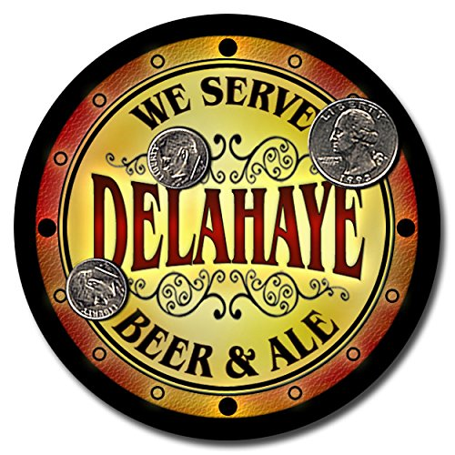 delahaye-family-name-beer-and-ale-rubber-drink-coasters-set-of-4