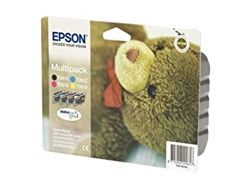 Epson Stylus D 68 (T0615 / C 13 T 06154010) - original - Inkcartridge multi pack (black, cyan, magenta, yellow) - 250 Pages - 32ml