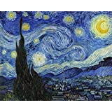 Ocher Art: Vincent Van Gogh: The Starry Night- Museum Quality Art Print On Canvas, (36x29 Inches)