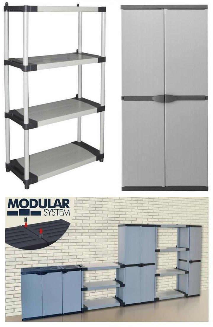 SchrankRegalSystem ARMADIO  Vier Ebenen mit maximalem Stauraum und belastbar bis über 350 kg, flexibler modularer Aufbau  BaumarktKundenbewertung und Beschreibung