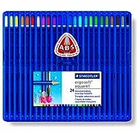 STAEDTLER エルゴソフト ソフト三角軸 水彩色鉛筆 24色セット