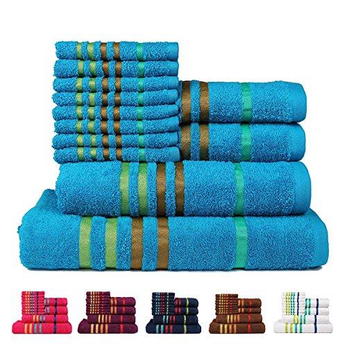 Casa copenhagen exotic cotton 475 gsm 12 pieces designer bath hand washcloth towels gift set - Casa copenaghen ...