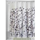 InterDesign Botanical Shower Curtain, 72-Inch by 72-Inch, Freesia