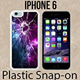 Cracked Screen Prank Custom made Case/Cover/skin FOR iPhone 6 -White- Plastic Snap On Case ( Ship From CA)