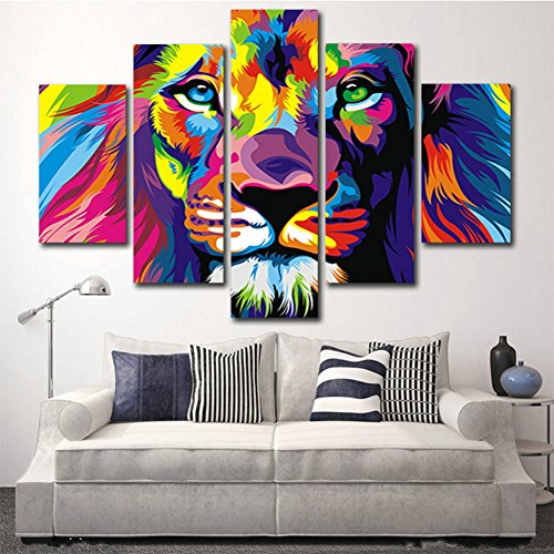 xrsart-5-piece-free-shipping-original-animal-oil-painting-pictures-art-print-on-the-canvas-wall-deco