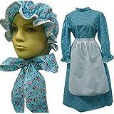 Prairie Girl Dress Set Child New Calico Prairie Dress 1223