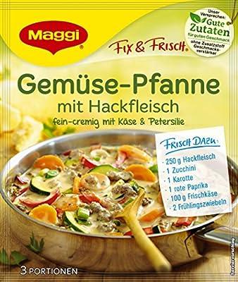 Maggi Fix und frisch für Gemüse-Pfanne mit Hackfleisch, 12er Pack (12 x 37 g) von Maggi - Gewürze Shop